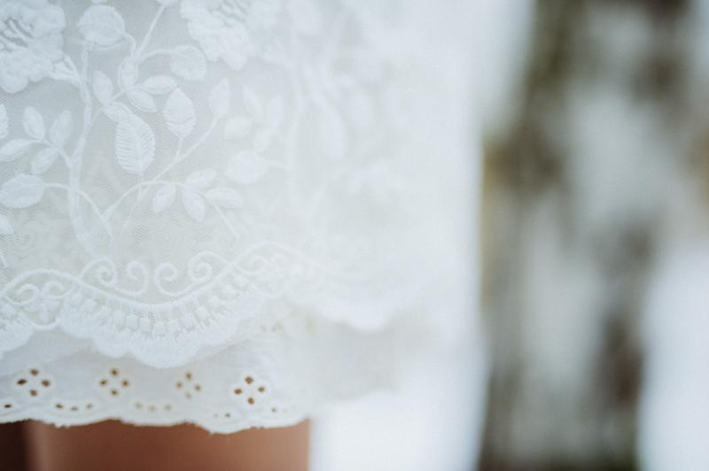 Detail Spitzenkleid Brautkleid